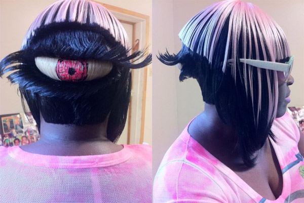 Giant Cyclops Eyeball Hairdo for the Back of Your Head Vision